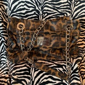Nicole Miller Leopard Bag